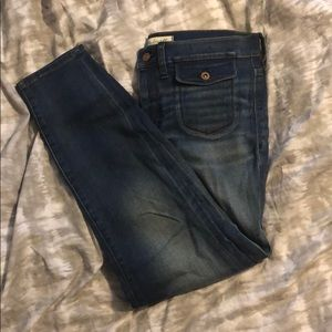 Madewell high rise crop jeans with front pockets